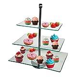 ハーブ・アルパート3?Tier Serving Tray Platters、前菜やデザートカップケーキケーキスタンド???Centerpieceの、ウェディング、Teaパーティー、休日ディナー、または誕生日パーティ(長方形3?Tier )