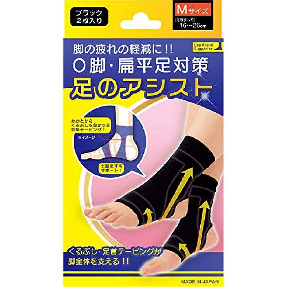 スキル動機つまらない美脚足のアシスト ブラック 2枚入り Mサイズ(足首まわり16~26cm)