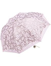 Godlovefull 折りたたみ日傘 レース日傘 二重張り UVカット 花柄 折り畳み 晴雨兼用 遮熱 8本骨 菊