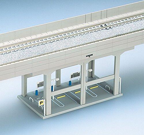 Nゲージ関連用品 複線高架橋脚ガード下駐車場 4106