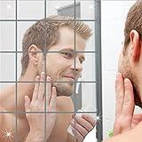 LZROL アート 現代芸術 おしゃれ シルバー ミラー ウォールステッカー インテリア 鏡効果 ホームデコレーション 壁貼りシール 割れない鏡 インテリ