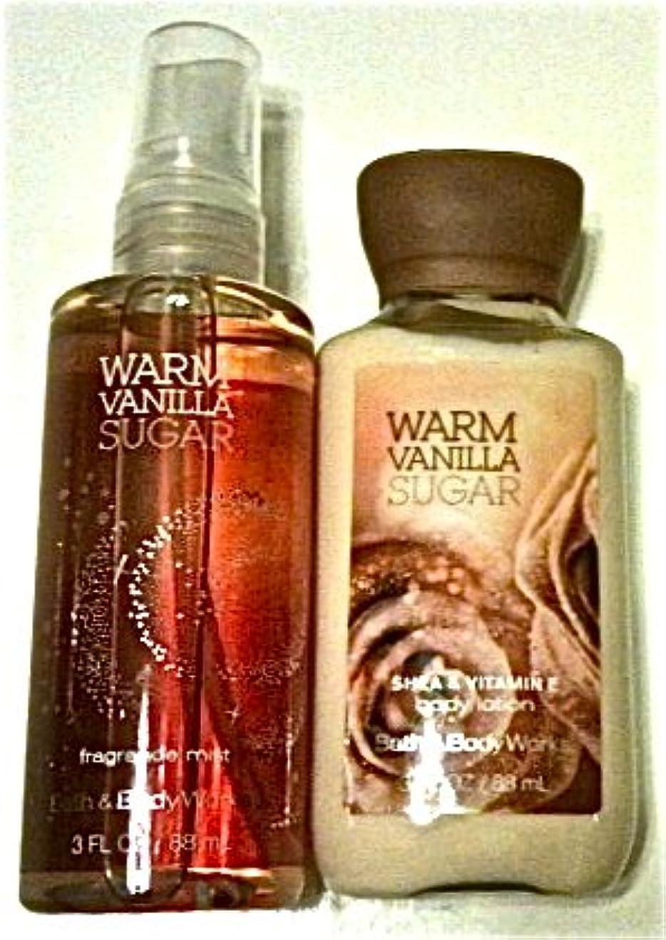 薄汚いリア王有望Bath & Body Works warm vanilla sugar body cream, fragrance mist ワームバニラシュガー、ボディークリーム&ミスト [海外直送品]