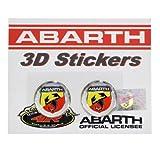 フィアットFIAT アバルトABARTH 純正 3D エンブレムステッカー(円形21mm2枚組) 59230316 59230316