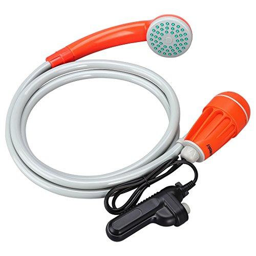 suaoki ポータブルシャワー アウトドアシャワー USB充電式 2200mAh充電池 簡易シャワー サーフィン 海水浴 洗車 災害など多用途に