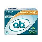o.b. Applicator Free Digital Tampons, Super Plus - 40 Count, saSAXDS