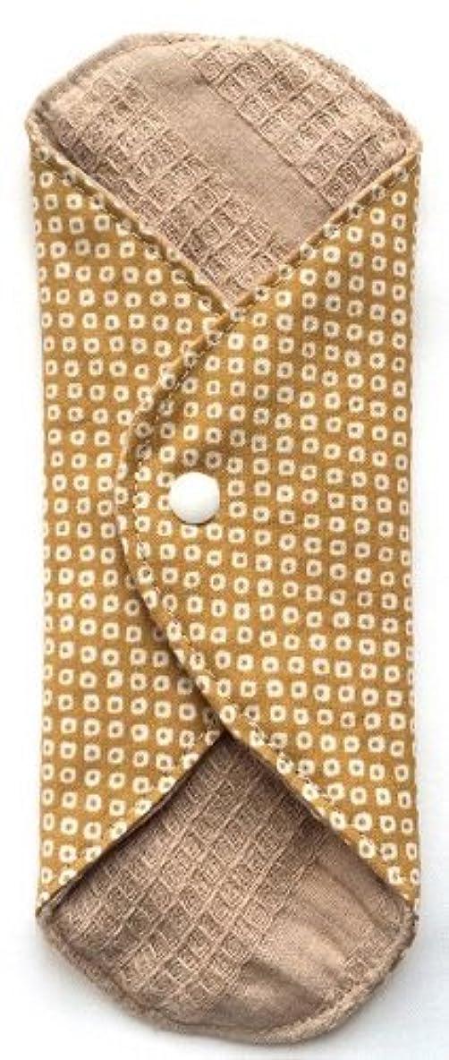 財団策定する便利華布 オーガニックコットンのあたため布 Mサイズ(約15×約15cm) 鹿の子柄(辛子)