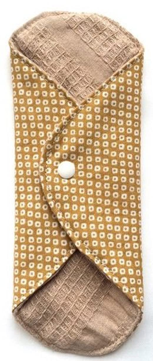 ペストエゴマニア有毒な華布 オーガニックコットンのあたため布 Mサイズ(約15×約15cm) 鹿の子柄(辛子)