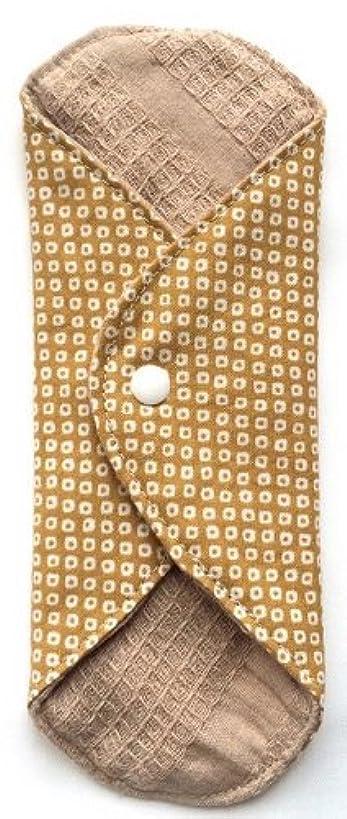 ボール黒食事を調理する華布 オーガニックコットンのあたため布 Mサイズ(約15×約15cm) 鹿の子柄(辛子)