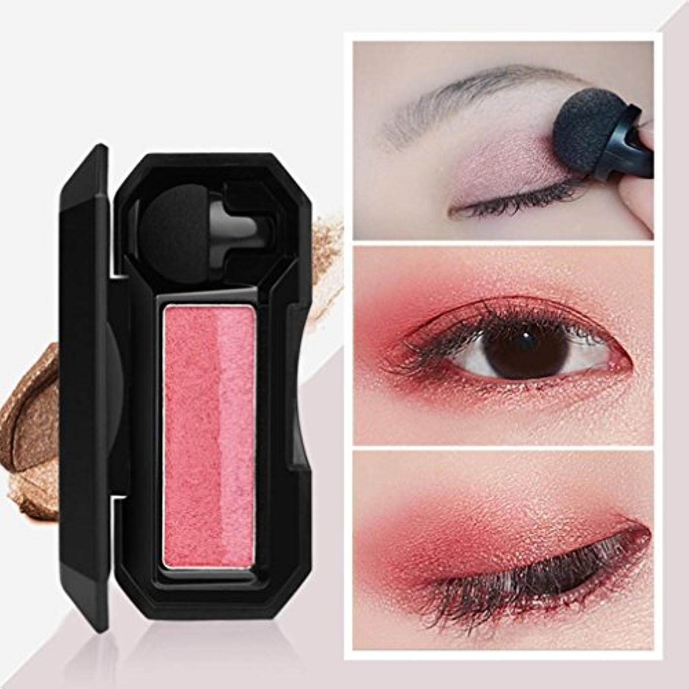 プレート経験的ストロークビューティー アイシャドー BOBOGOJP 女性 2色 可愛い デザイン ミニスタンプアイシャドーパレット 携帯便利 極め細かい 化粧パウダー 持続性 スモーキーメイク (21A)