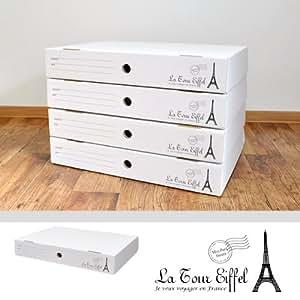 ☆メモリアルボックス 4個セット│ダンボールの収納ボックス│子供の思い出の品・A2サイズも入るクラフトボックス