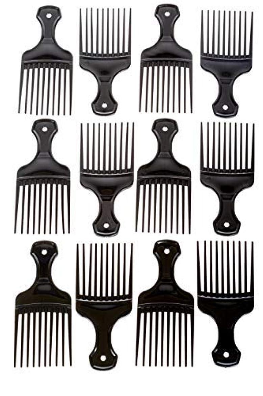 場所仲良し安定Afro Hair Pics (Bulk 100pk) 5.25