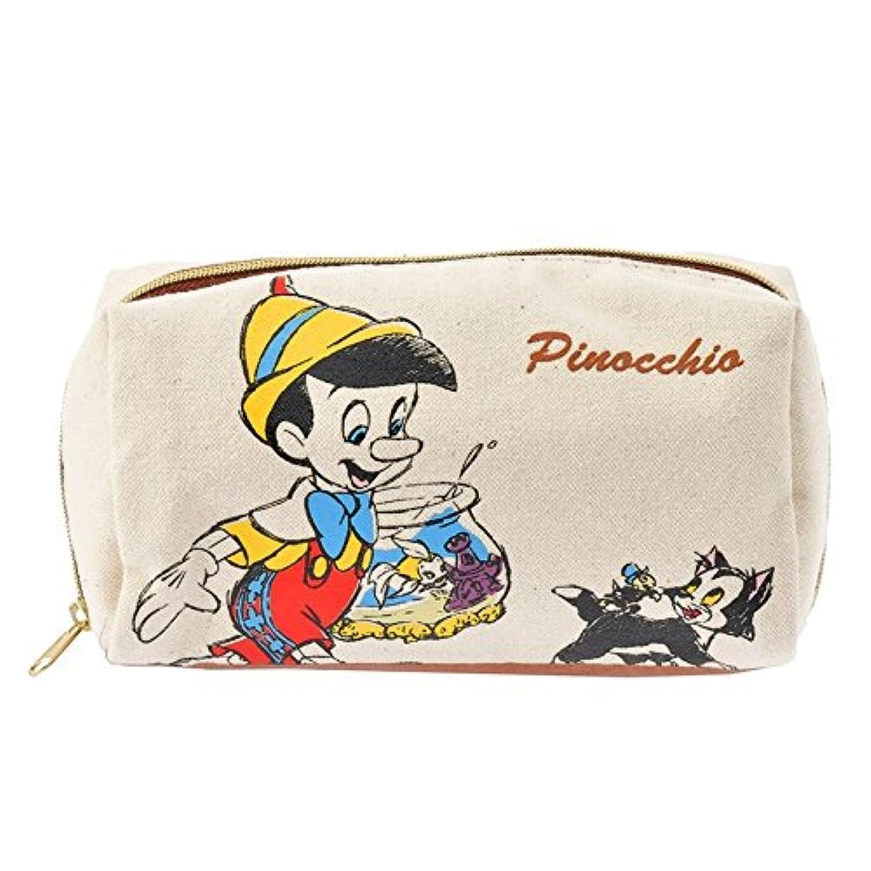 ピノキオ ポーチ キャンバス ディズニー ディズニーストア ウォーク ブラウン (ハンカチ セット グッズ 雑貨)