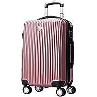 "Swissgear 20"" Luggage Suitcase Hard Shell TSA Locks Rose"
