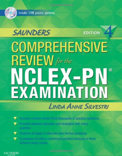 Download Saunders Comprehensive Review for the NCLEX-PN® Examination (Saunders Comprehensive Review for Nclex-Pn) 1416047301