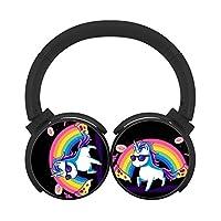 RianbowユニコーンBluetoothヘッドフォンover earワイヤレスヘッドセットステレオHi - Fiノイズキャンセリングイヤホン折りたたみ式for PC/携帯電話/TV