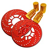 【セット商品】 エブリィワゴン DA17 DA17W ディスクブレーキ風 ドラムブレーキカバー レッド & エアバルブキャップ ゴールド