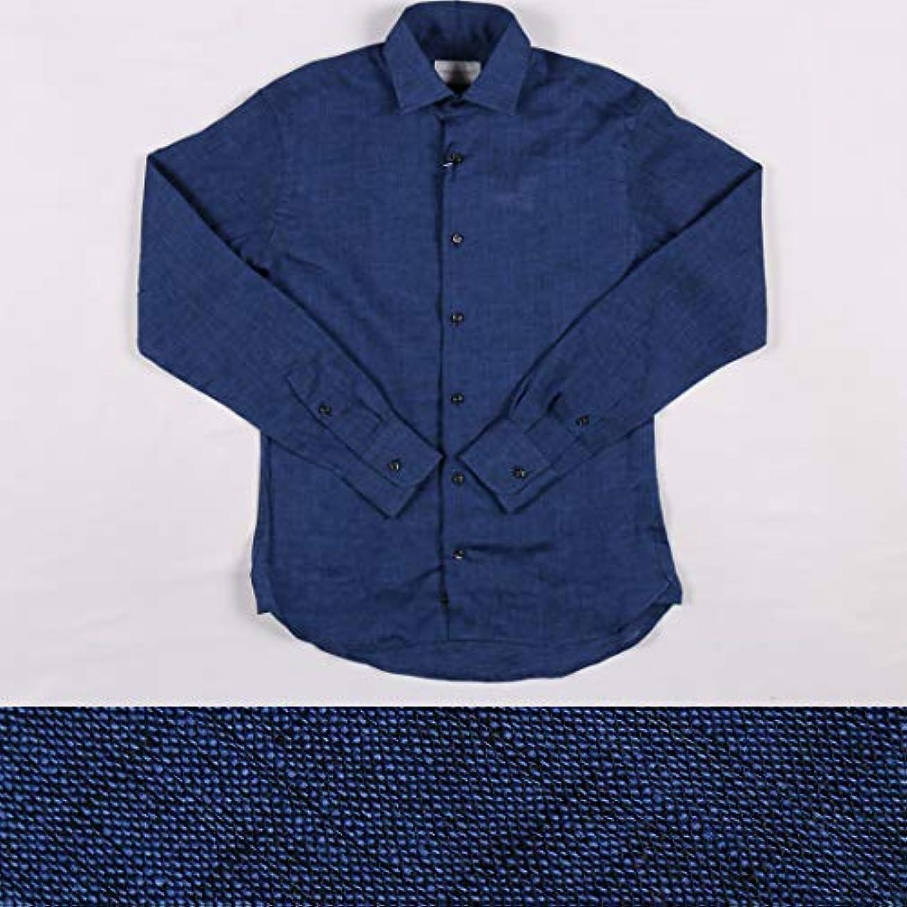 重くするに付けるワークショップStefano Conti リネン100% 長袖シャツ LAUREA navy XL 16524【S16532】 ステファノ?コンティ [並行輸入品]