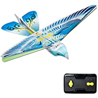 Springdoit 2.4GHzのリモートコントロール電子オウムの鳥のRCおもちゃリモートコントロールのオウムの鳥のクリスマスの子供の贈り物 - 青