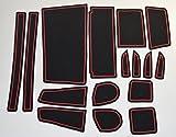 KINMEI(キンメイ) ダイハツ ムーヴカスタム LA150S/LA160S現行型 赤 専用設計 インテリア ドアポケット マット ドリンクホルダー 滑り止め ノンスリップ 収納スペース保護 ゴムマット 軽トールワゴンMOVE custommov-r