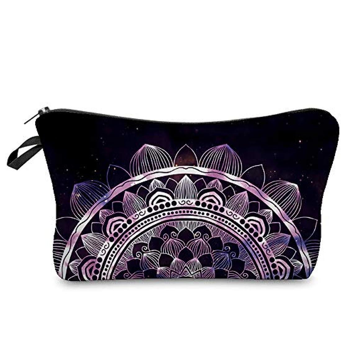 刃壁紙ポール1st market 優れた3D曼荼羅印刷化粧品オーガナイザーバッグ女性旅行化粧ポーチ