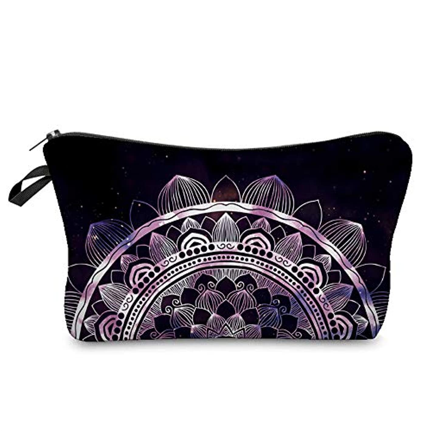1st market 優れた3D曼荼羅印刷化粧品オーガナイザーバッグ女性旅行化粧ポーチ