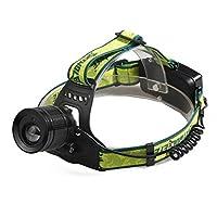 ヘッドライト Yeezii LEDヘッドランプ 小型軽量 3モード 300ルーメンヘッドライト 夜釣り 工事 作業適用 (ブラック懐中電灯だけ)