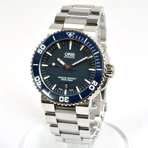 ORIS オリス 73376534155M アクイス セラミックベゼル ブルー メンズ 腕時計【並行輸入品】
