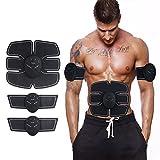 Apleek EMS エクササイズマシン フィットネス 腹筋ベルト 筋肉刺激 ジェルシート パッド 筋肉運動 男女兼用 トレーニング器具 腹筋機械