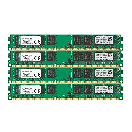Kingston デスクトップPC用メモリ DDR3-1333 (PC3-10600) 8GBx4枚 CL9 1.5V Non-ECC DIMM 240pin KVR1333D3N9K4/32G 永久保証