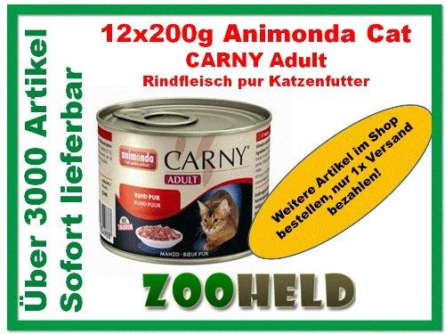 ANIMONDA カーニー アダルト(牛肉)200g缶【猫用・アニモンダ】