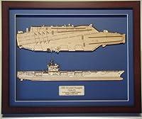 USSリンカーンcvn-72木製モデル