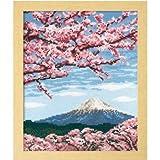 四季を彩る日本の名所 7386 オリムパス ししゅうキット フレーム 桜と富士山 [簡易パッケージ品]