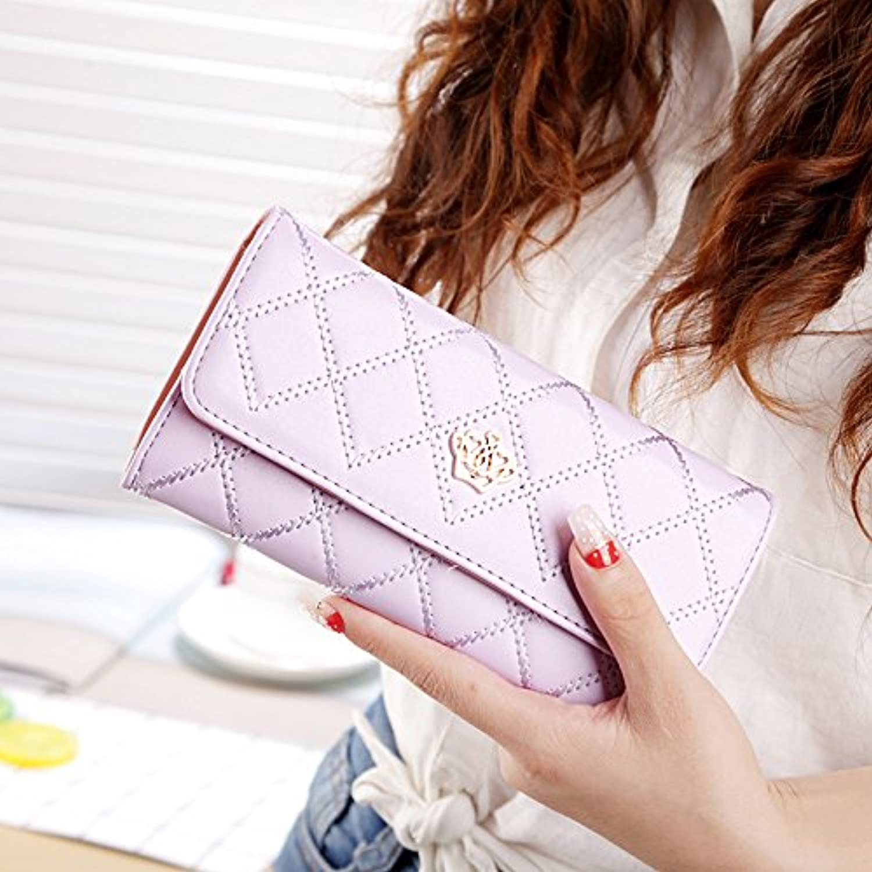 女性のおしゃれな菱形の王冠の装飾財布 (紫の)