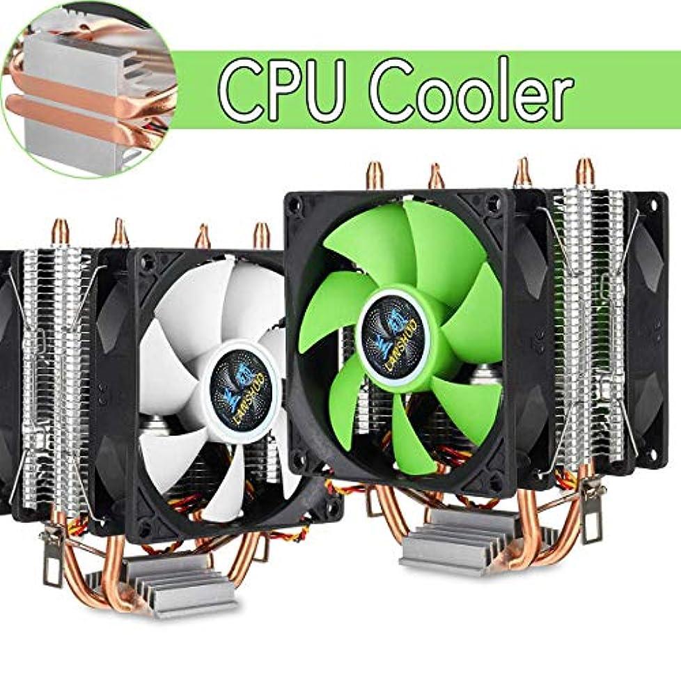 宙返り郵便ダブルAluminium PC 2 Heatpipe CPU Cooler Heatsink Cooling Fan 3 pin Dual-sided Fan for Intel LGA 775/1150/1151/1155/1156 AM2 AMD3