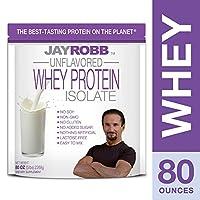 Jay Robb - 乳清タンパク質分離ことがない味 - 80ポンド