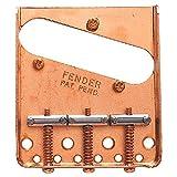 フェンダー USA 純正パーツ Fender Vintage Tele 3-SaddleBridge Gold テレキャスター用ブリッジ マウント用ハードウェア付き  『並行輸入品』