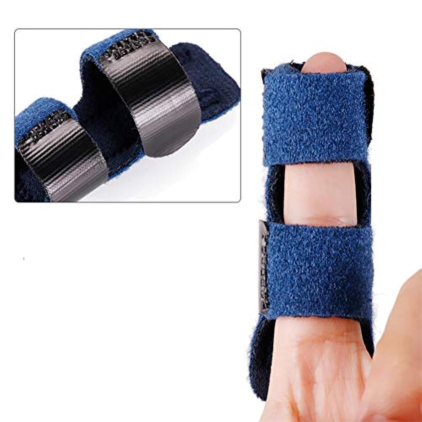タバコ滑り台司令官指サポーター ばね指サポーター バネ指 腱鞘炎 指保護 固定 調整自在 左右兼用 フリーサイズ
