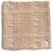 華布 オーガニックコットンの布ナプキン スナップ付ライナーS (約13×約13) 1枚入り (グリーン)