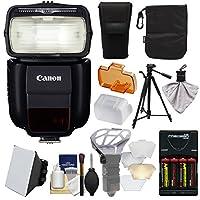Canonスピードライト430ex iii-rtソフトボックス+フラッシュバウンスディフューザー+電池/充電器+三脚キットfor Rebel t6、t6i、t7i、t6s、EOS 77d、80d、7d、6d、5dマークII III IV、5ds R