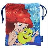 Disney ディズニー とっても 可愛い 巾着 巾着袋 コップ 入れに 便利 おかたずけに (アリエル) az078