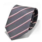 (スミスアンドスコット) Smith & Scott 全60柄 メンズ ビジネス ジャガード織 シルク 100% ネクタイ ストライプ柄 ネイビー グレー ボルドー ntjaw-25 タイプ14 02