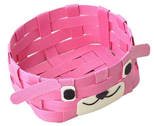 ハマナカ エコクラフトキット どうぶつかご 犬 ピンク H360-233-2