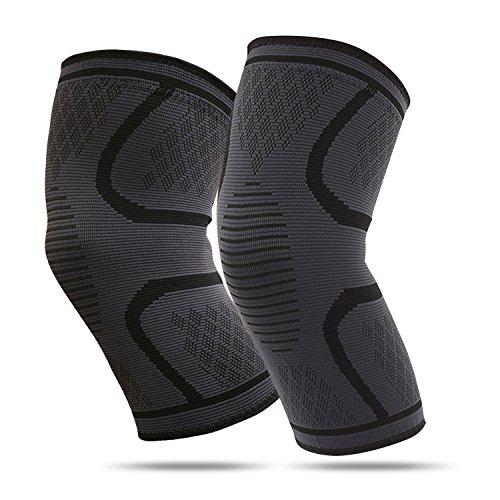 RSSMILE 膝サポーター 膝固定 (2個セット) 関節靭帯保護 怪我防止 運動用ひざサポーター ランニング バスケ 登山アウトドアスポーツ 薄型 通気性 伸縮性 左右兼用 耐荷重:55KG-75KG