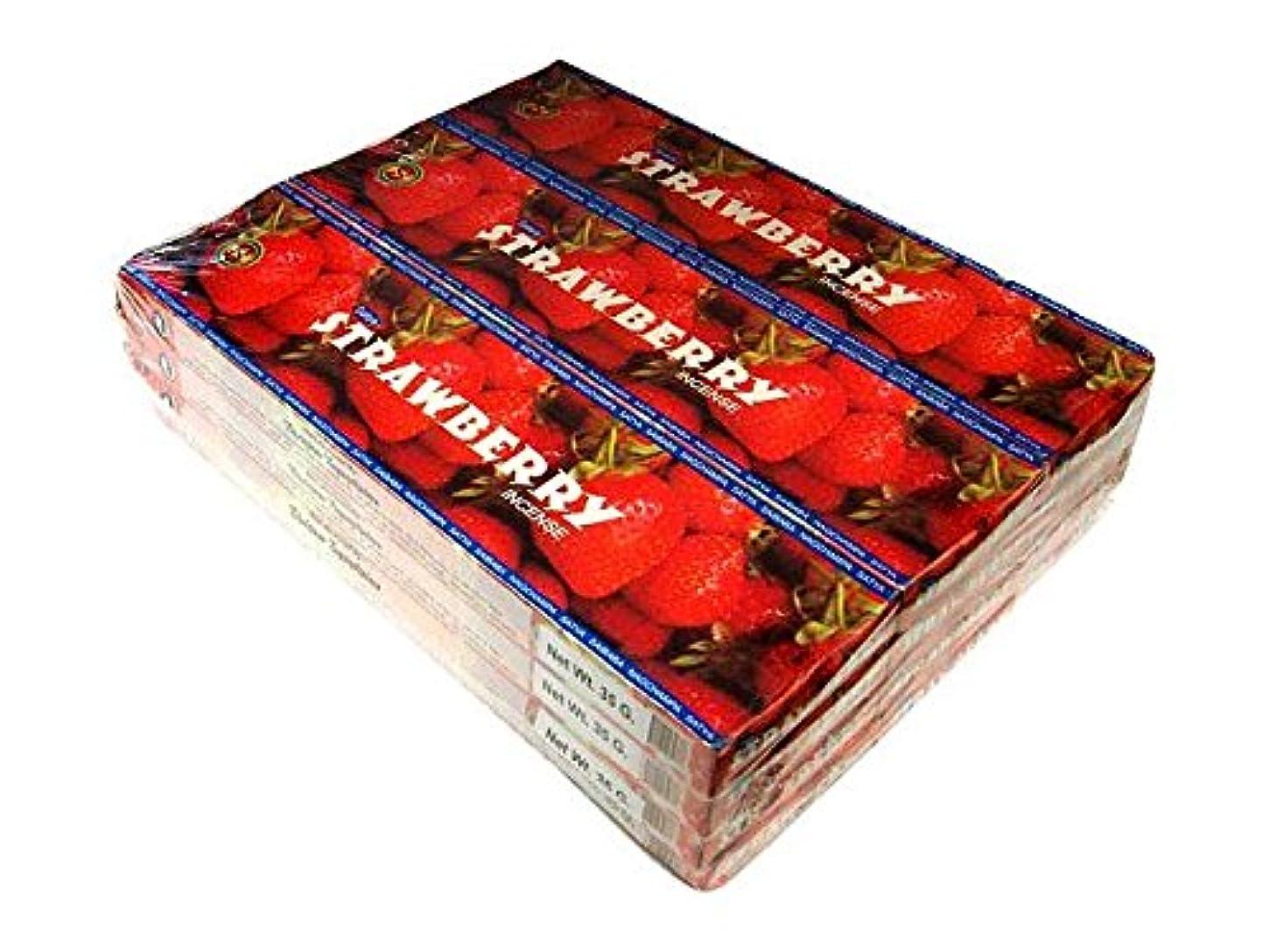 浸透するミュージカル支配するSATYA(サチャ) ストロベリー香 スティック STRAWBERRY 12箱セット
