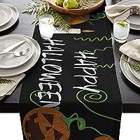 テーブルランナー ハロウィンテーマ かぼちゃ テーブルクロス お食事マット プレースマット おしゃれ インテリア 食卓飾り 滑り止め 欧風 無地 おもてなし パーティー ホームデコレーション 46x183cm