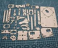 WillBest 1pcs MeArm Pocket Sized Robot Arm 3mm wooden plate cut