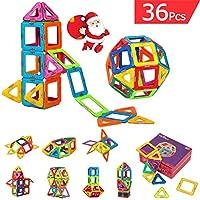 FlyCreat 磁石ブロック マグネット3D立体パズル 三角形24個 正方形12個