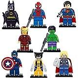 積み木アベンジャーズおもちゃ、子供へのプレゼントに一番ふさわしく、とても安全、高さは5センチ、子供へのプレゼント