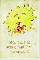 イントロスペクティブ カメレオン Stay Closose to People That Feel Like Sunshine - プリント写真ポスター引用- ウォールデコ モダンアート シック。 24 x 16 Inch