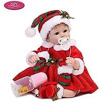 Decdeal NPK 16inch 女の子 ソフトボディ シリコン 赤ちゃん人形お世話 おもちゃ